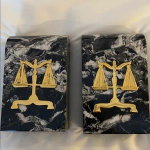Scales of Justice book ends! Marble!